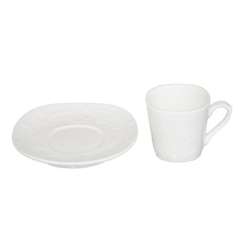 Embossed Cup and Saucer 90 ml