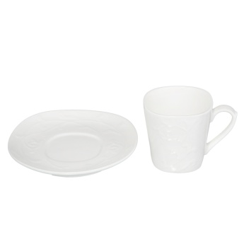 Embossed Cup and Saucer 220 ml