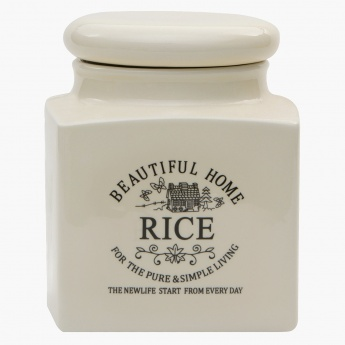 Beautiful Home Rice Jar