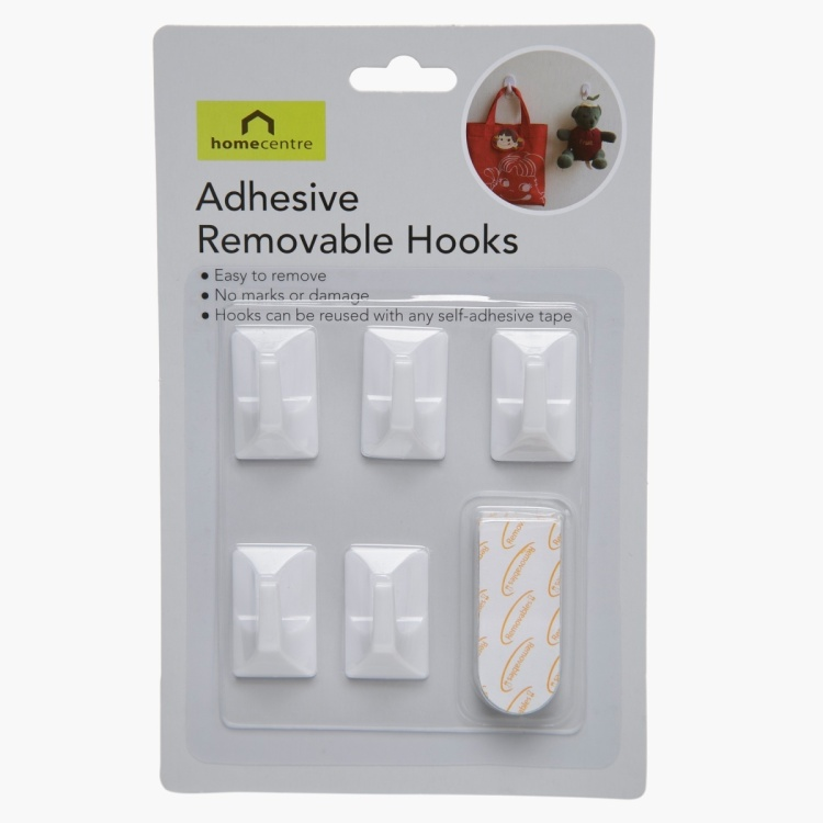 Adhesive Angle Hooks - Set of 5