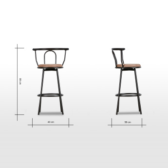 Saysta Bar Stool with Cushion