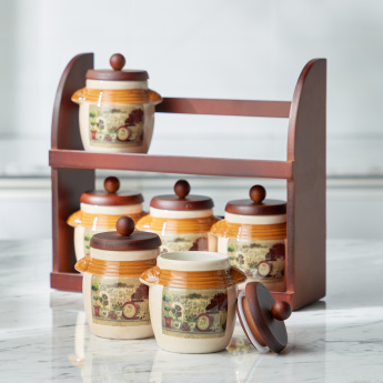 Garden Banquet 6-Storage Containers with Stand