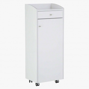 Mobile 1-Door Shoe Cabinet with 1-Drawer