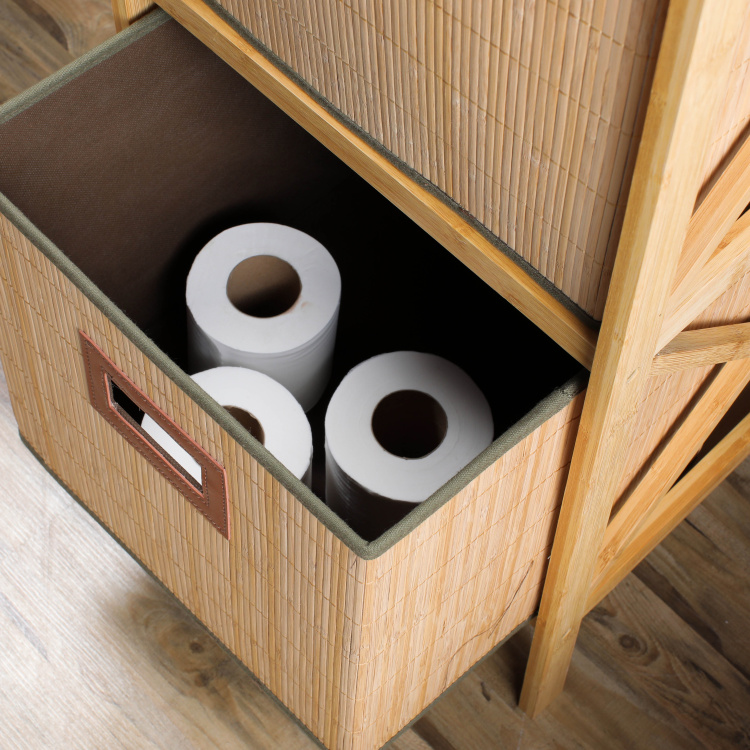 Bamboo 2-Drawer Bathroom Cabinet