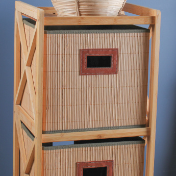 Bamboo Bathroom Cabinet with 3-Drawers
