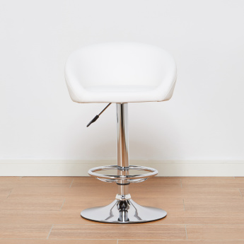 Frost Paprika Bar Stool with Adjustable Height Swivel