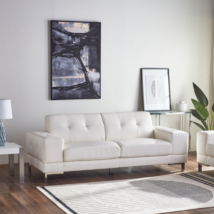Betrib 3-Seater Faux Leather Sofa