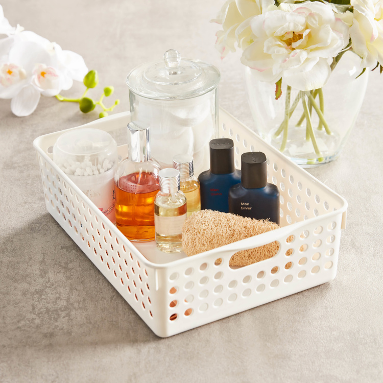Storage Basket with Cutout Handles