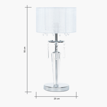 Medalion Crystal Embellished Table Lamp - 50 cms