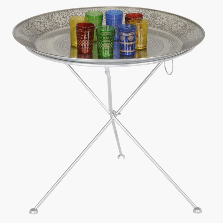 Nessna 8-Piece Glass with Tray and Stand