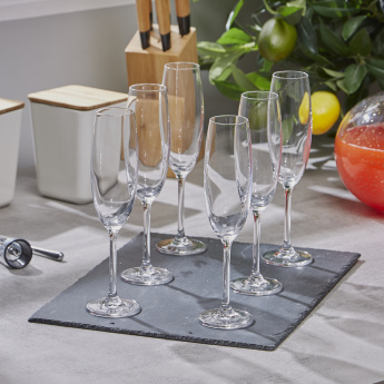 Banquet Degustation Champagne Flute Glass - Set of 6