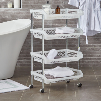 Wheelie 4-Tier Portable Bathroom Trolley