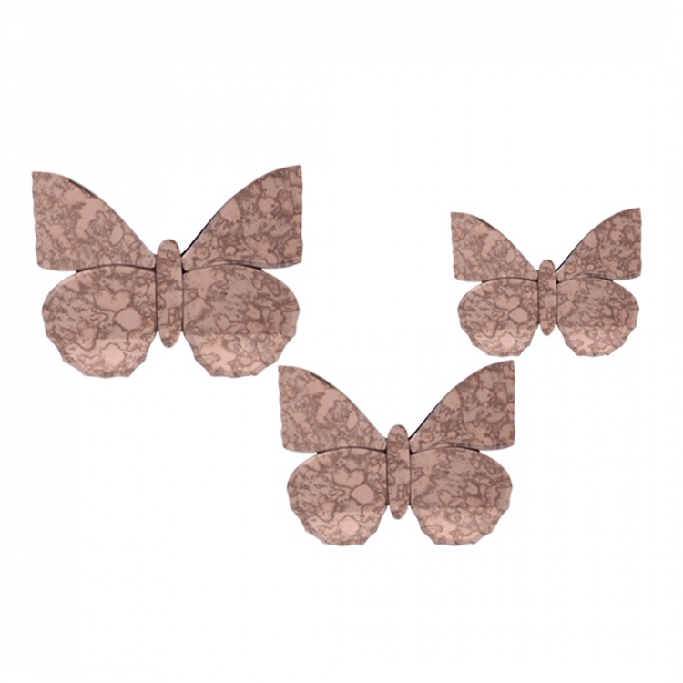 Alle Butterflies Wall Decor - Set of 3
