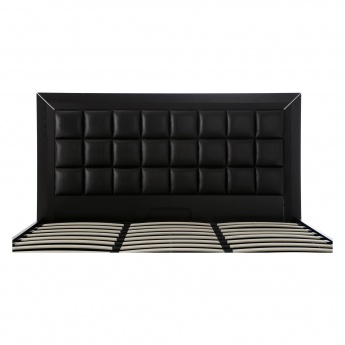 Croco Queen Bed with Tufted Headboard and Storage - 165x211 cms