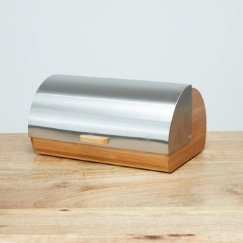 Bamboo Bread Box with Stainless Steel Cover
