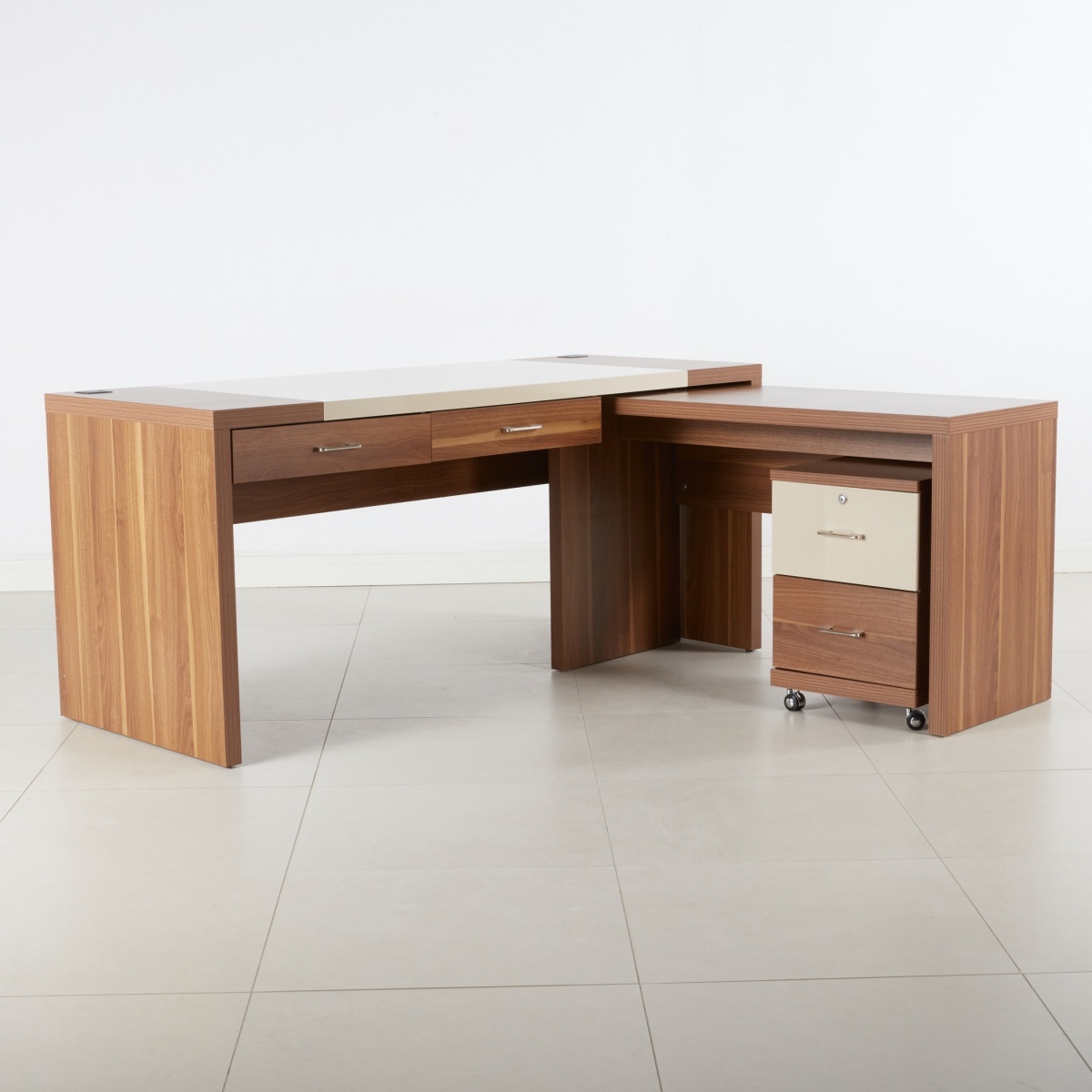 Canova 2-Drawer Corner Desk
