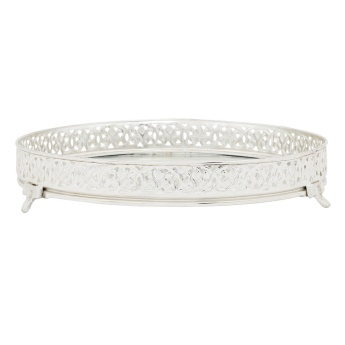 Shining Diamond Mirror Serving Tray 20x20x5 cms