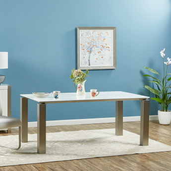 Parlin 6-Seater Dining Table with Glass Top