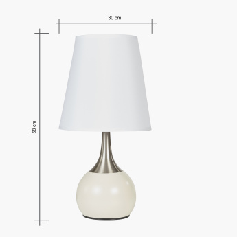 Lumen Metallic Touch Table Lamp - 58 cms