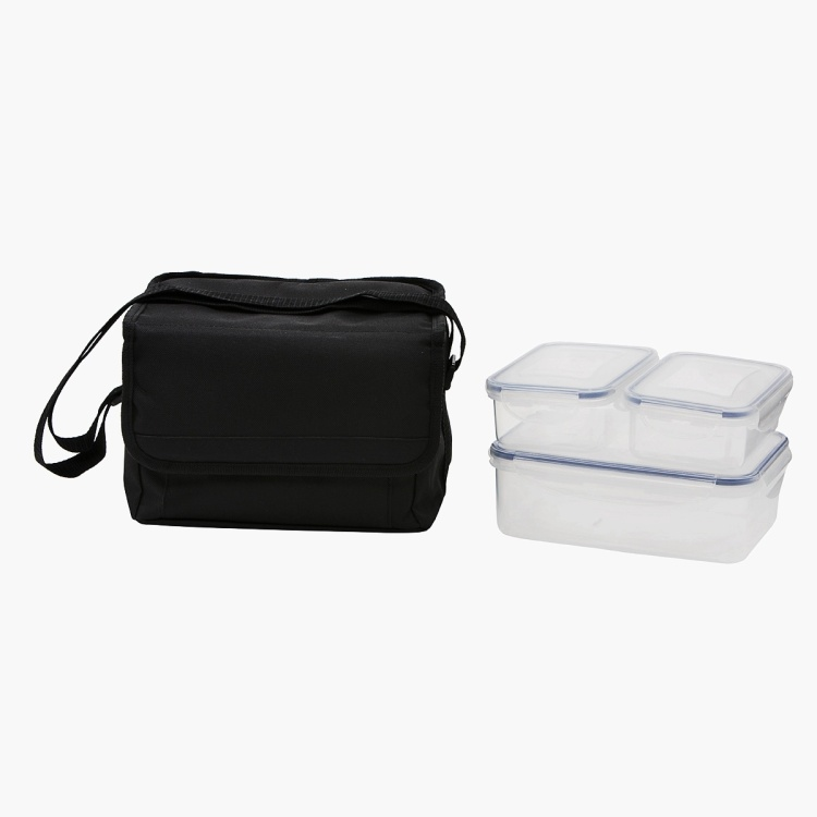 Alba 3-Piece Food Container with Cooler Bag