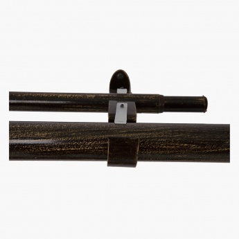 Stacked Square Double Curtain Rod - 32 mm