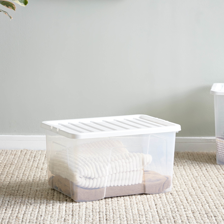 Crystal Rectangular Storage Box with Lid