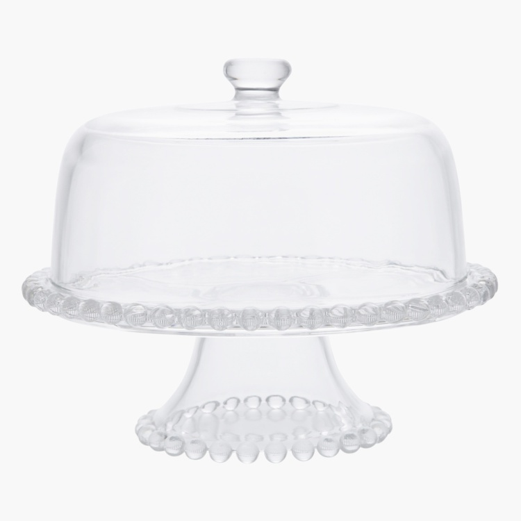 Pearl Cake Stand with Dome