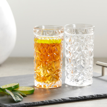Ice Cube Hiball Glass - Set of 6