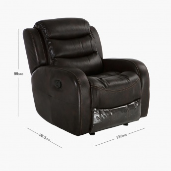 Chaplin Tufted 1-Seater Manual Recliner Sofa