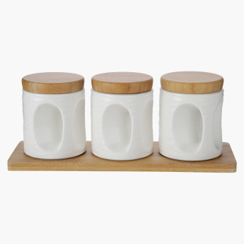 Mojo 6-Piece Canister and Tray Set