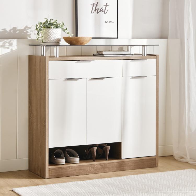 Dublin 3-Door Shoe Cabinet with 2-Drawers