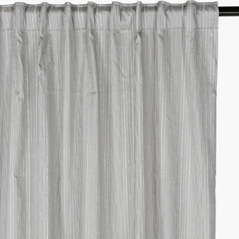 Meltam Textured Curtains with Concealed Hanging Panel - Set of 2