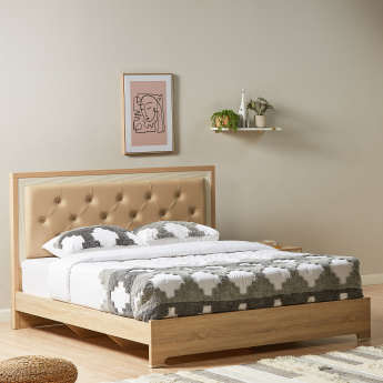 Hayden King Bed with Tufted Headboard - 221x189 cms