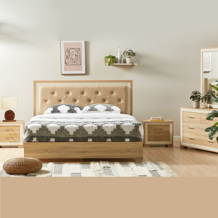 Hayden King Size Bed with Tufted Headboard - 180x210 cm