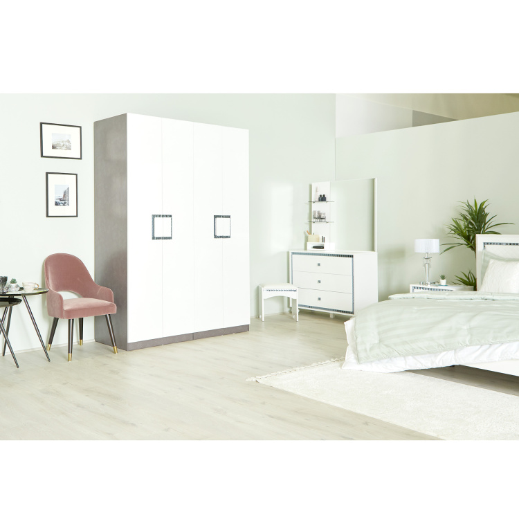 Helen 4-Door Wardrobe with Mirror