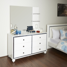 Helen 6-Drawer Dresser with Mirror