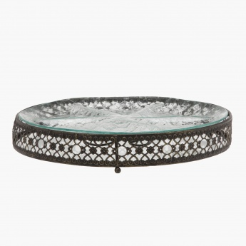 Accent Round Tray with Stand - Set of 2