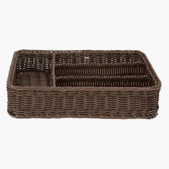 Mystique Hand-woven Cord Cutlery Basket