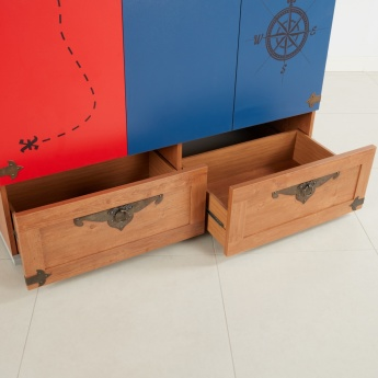 Little Pirate 3-Door Wardrobe with 2-Drawers