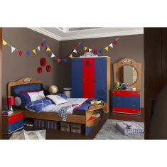 Little Pirate Panelled Single Bed - 120x200 cms