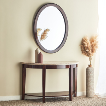 Oxville Console Table with Marble Top and Mirror