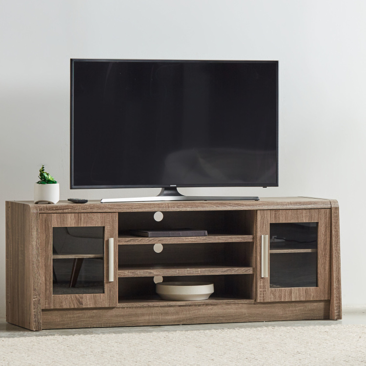 Saturn 2-Door Rectangular TV Unit for TVs up to 55 inches
