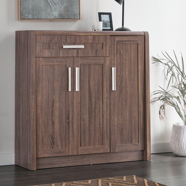 Saturn 1-Drawer Shoe Cabinet with 3-Doors