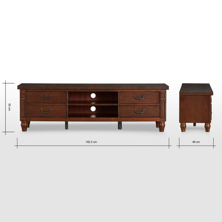 Myler TV Unit with 4-Pull Out Drawers for TVs up to 65 inches