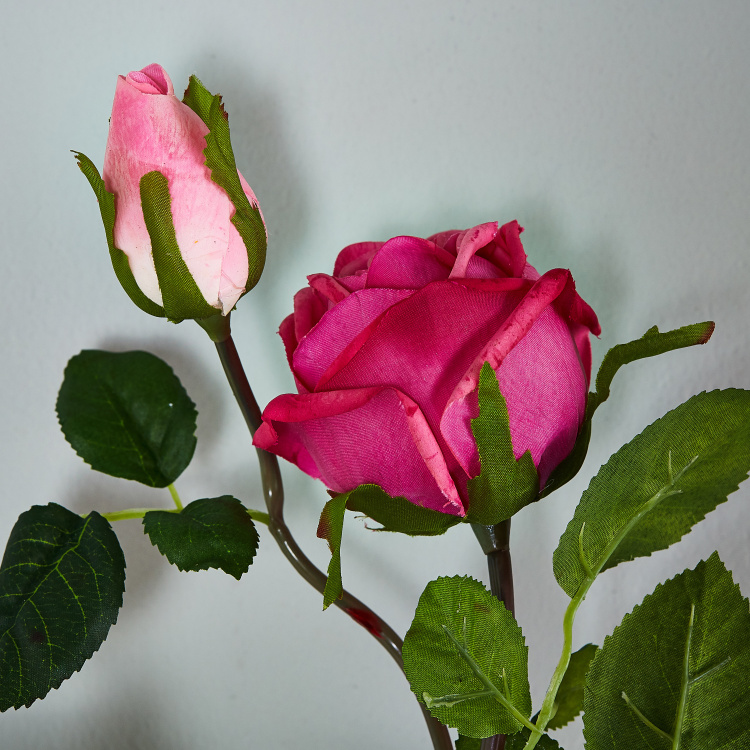 Real Touch Rose Spray - 89 cm