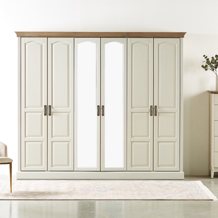 Louis 6-Door Wardrobe with Mirrors