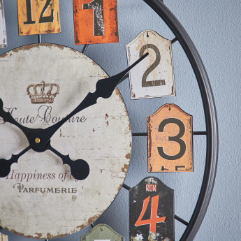 Haute Antique Round Wall Clock