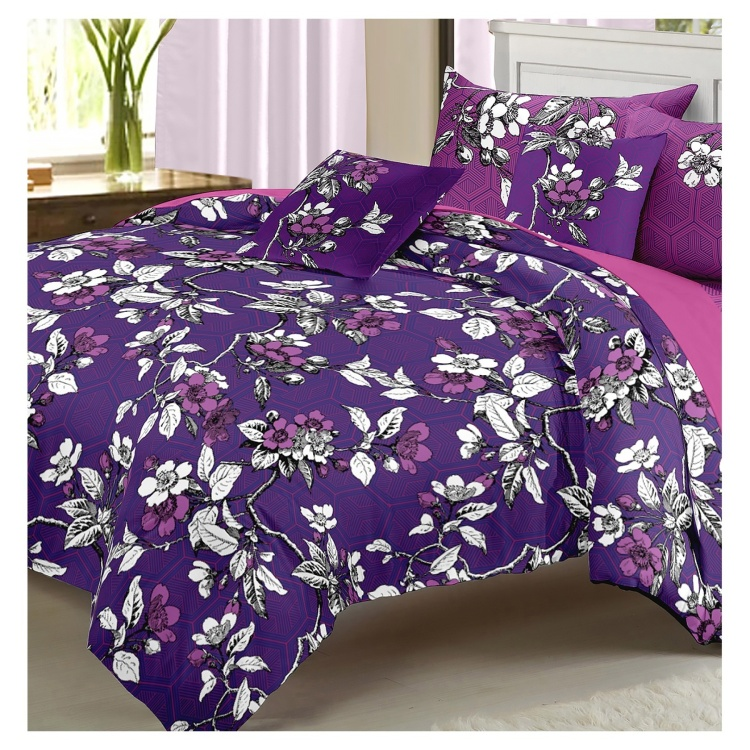 Camelia 5-piece Queen Comforter Set - 200x240 cms