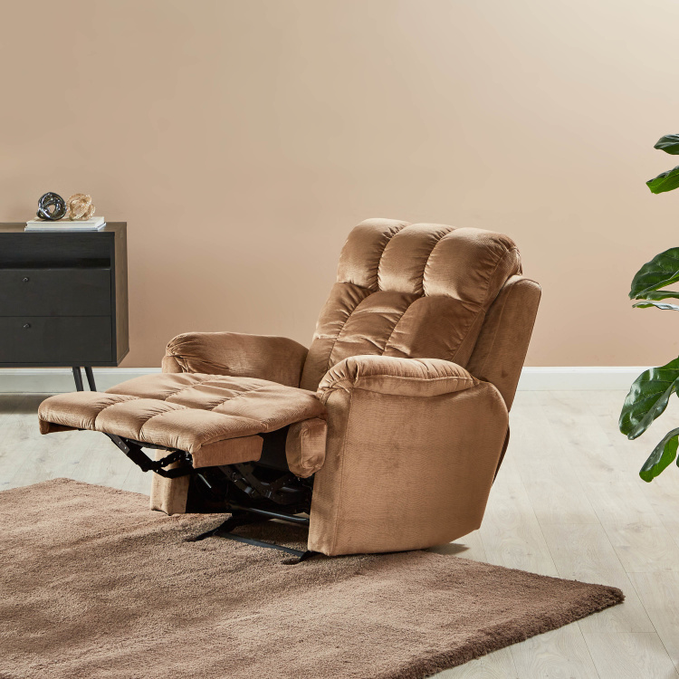 Berry Fabric Manual Recliners