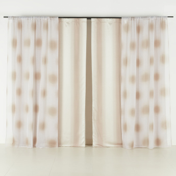 Marley Dots Printed 2-Piece Curtain Set